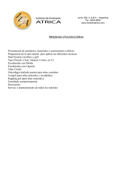 Presentación de productos, materiales e instrumental a