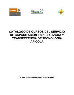 Catálogo de Cursos de Capacitación