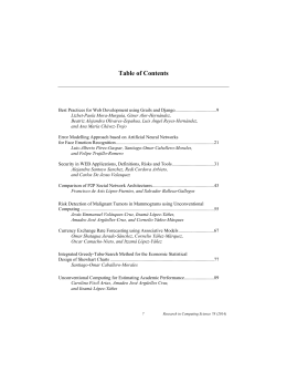 Table of Contents - Research in Computing Science