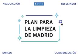 Plan Limpieza Madrid - Diario del Ayuntamiento de Madrid