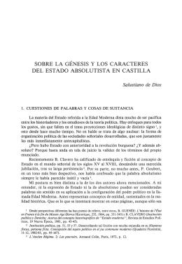Sobre la génesis y los caracteres del estado absolutista en Castilla