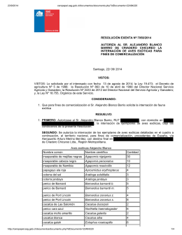 Autoriza al sr. Alejandro Blanco Barrio de Criadero Chicureo la