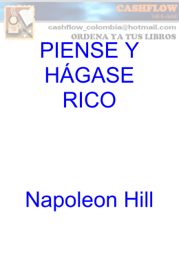 Piense y Hagase Rico NapoleonHill