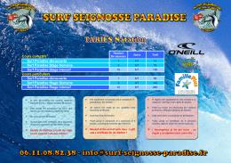 Cours collectifs* Surf Paradise découverte Surf Paradise Stage
