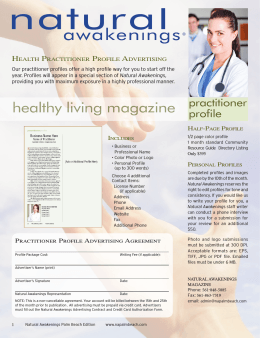 healthy living magazine - Natural Awakenings Magazine of the Palm