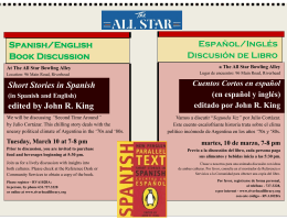 Short Stories in Spanish edited by John R. King Spanish/English