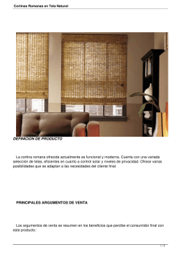 Cortinas Romanas en Tela Natural