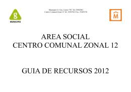 area social centro comunal zonal 12 guia de recursos 2012