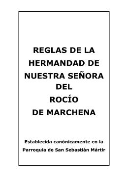 Proyecto de Reglas de la Hermandad del Rocio de Marchena