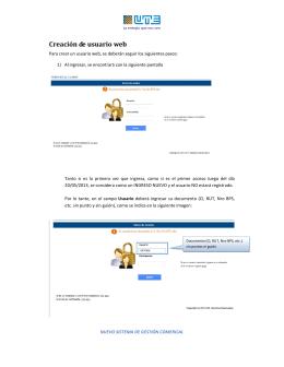 Creación de usuario web