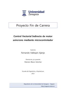 Control Vectorial Indirecto de motor asíncrono mediante