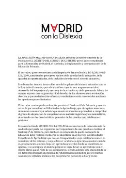 Propuesta McDISLEXIA - Madrid con la Dislexia