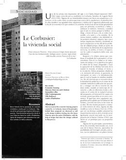 Le Corbusier: la vivienda social