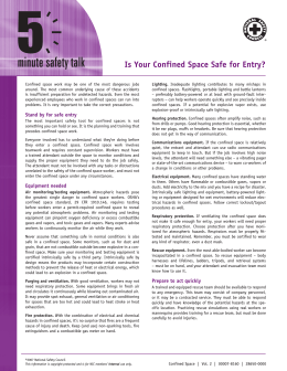 Is Your Confined Space Safe for Entry?