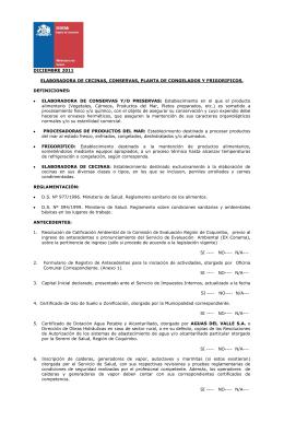 FABRICA DE CONSERVAS, PLANTA DE CONGELADOS