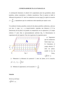 Condensadores de placas paralelas