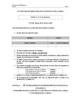 IV CONCURSO DE PRIMAVERA DE MATEMÁTICAS DE LA RIOJA