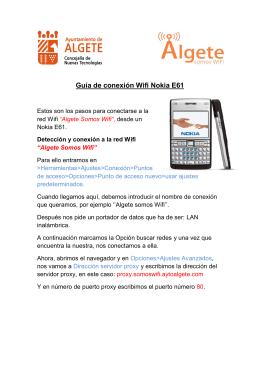 Guía de conexión Wifi Nokia E61