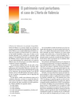 El patrimonio rural periurbano: el caso de L`Horta de València