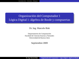 Lógica digital: circuitos combinatorios