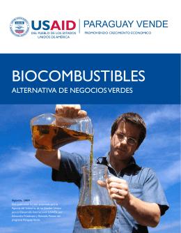 BIOCOMBUSTIBLES - Ministerio de Agricultura y Ganadería