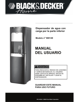MANUAL DEL USUARIO - Primo Water Store