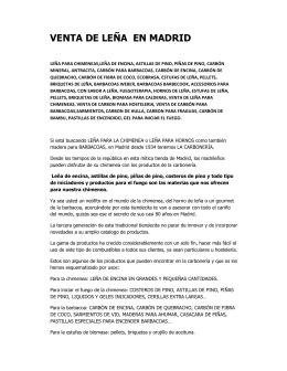 venta de leña en madrid - FuegoTerapia, Revista Digital del Mundo