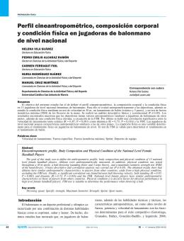 Perfil cineantropométrico, composición corporal y condición