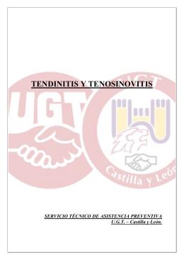 tendinitis y tenosinovitis - FETE-UGT Enseñanza