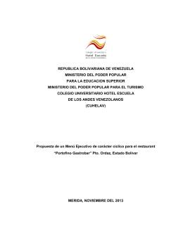 republica bolivariana de venezuela ministerio del poder popular