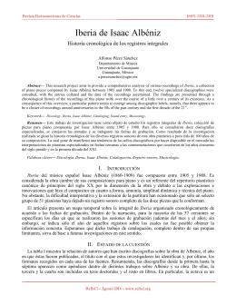 Iberia de Isaac Albéniz. Historia cronológica de los registros integrales