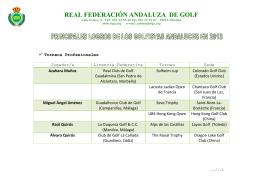 principales logros de los golfistas andaluces en 2013