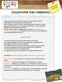 COLONIAS DE VERANO - Carambola Fiestas