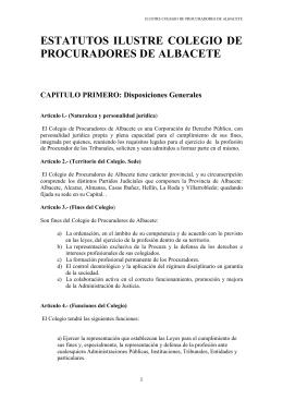 Estatutos del Colegio - Colegio Oficial de Procuradores de Albacete