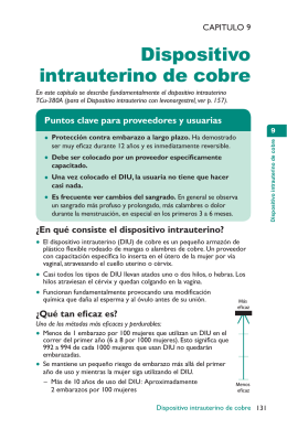 Dispositivo intrauterino de cobre