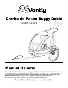 Carrito de Paseo Buggy Doble Manual Usuario