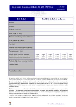 FOR-03.32 Inscripción clases colectivas de golf infantil