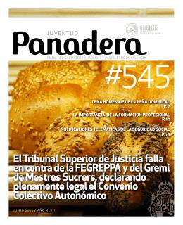 Junio 2013 - El Gremio de panaderos y pasteleros de Valencia