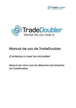 Manual de uso de TradeDoubler
