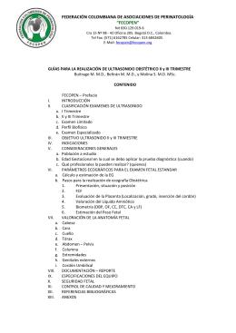 """federación colombiana de asociaciones de perinatología """"fecopen"""""""