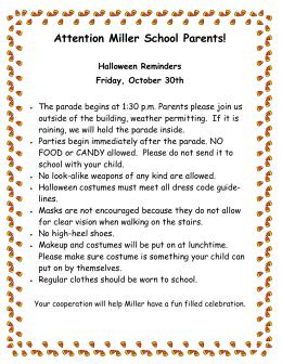 Attention Miller School Parents!