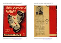 """Róbinson Rojas, """"Estos mataron a Kennedy"""""""