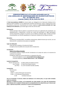 Convocatoria 6ª Prueba Liga Andaluza de F5J Altímetro