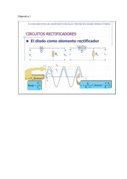 CIRCUITOS RECTIFICADORES El diodo como elemento rectificador