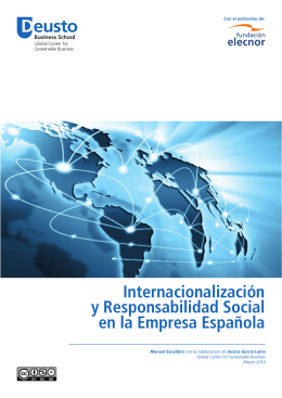 Internacionalización y Responsabilidad Social en la Empresa