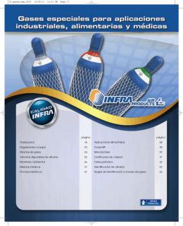 Gases especiales para aplicaciones industriales