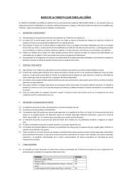 BASES DE LA TARJETA CLUB CINES LAS CAÑAS