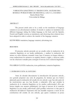 variación lingüística y traducción. análisis del