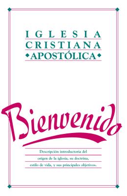 I G L E S I A CRISTIANA APOSTÓLICA