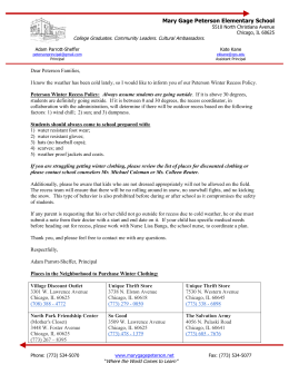 Recess Letter 12-11-13 - Mary Gage Peterson Elementary School